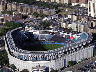 New York Yankees - During 1974 and 1975, Yankee Stadium was renovated into its final shape and structure, as shown here in 2002, seven years before demolition.