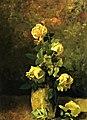 Yellow roses in a vase Charles E Porter.jpg