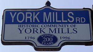 York Mills Road - Image: York Mills Road Sign