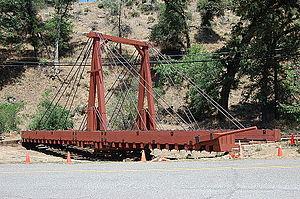 Yosemite Valley Railroad - The original hand-powered turntable.