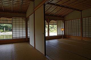 Straw mat used as flooring in Japan