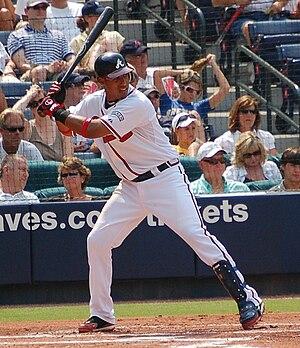 Yunel Escobar - Escobar batting for the Atlanta Braves in 2008
