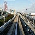 Yurikamome front outlook towards Tokyo Big Site - Gakki Fair 2014.jpg
