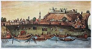 Zemun - 1608 painting of Ottoman Zemun