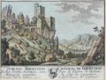 Zentralbibliothek Solothurn - SCHLOSS THIERSTEIN In dem Canton Solothurn von Mitternacht anzusehen A Lisel Fluss B Erschweil Wappen - a0197.tif
