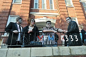 English: Asbury Park zombies await the annual ...