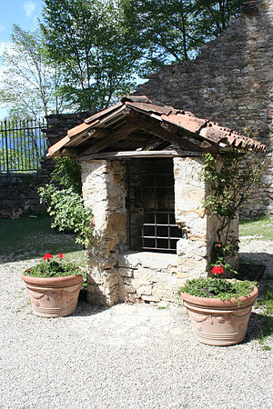 Wishing well at the castle of Zumelle, Belluno...