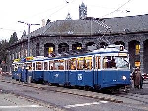 Zürich Underground Railway - A tram designed for use in tunnels, type Be 4/4 («Karpfen»)