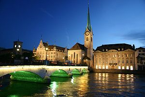 Цюрих: Zurich in night1