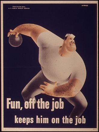 Fun - Employment poster about the importance of fun