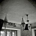 """Lujstri"" (luči) na stropu iz papirja (za svatbo), Hudinja 1963.jpg"