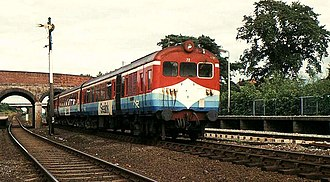 UTA 70 Class - Power car No. 72 leads a three-car unit into Knockmore station.