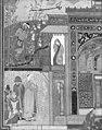 """Shaikh San'an beneath the Window of the Christian Maiden"", Folio18r from a Mantiq al-tair (Language of the Birds) MET 178465.jpg"