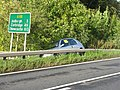 'Police Aware' - car off the A68 road near Ancrum - geograph.org.uk - 1519262.jpg