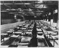 (Double decker bunk hall with lockers stored around the room at the Submarine Base, Los Angeles.) - NARA - 295481.tif