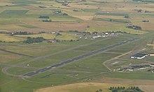 Luftansicht des Flughafens Ängelholm-Helsingborg