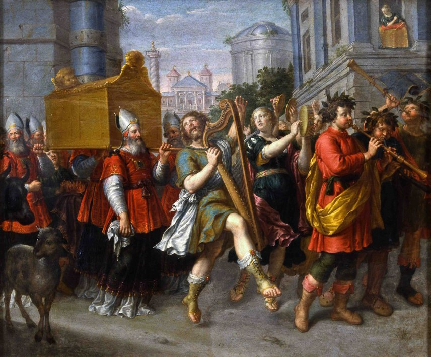 Überführung der Bundeslade durch den singenden und tanzenden König David
