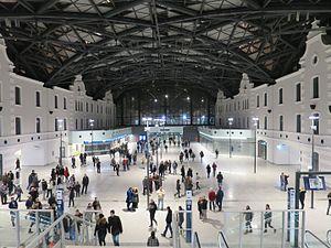Łódź Fabryczna railway station - The new Łódź Fabryczna station interior in December 2016