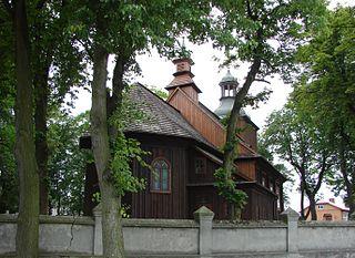Łęki Kościelne Village in Łódź Voivodeship, Poland