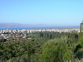 The town of Aigio