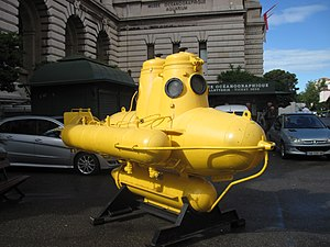 Jacques Cousteau - Cousteau's submarine near Oceanographic Museum in Monaco