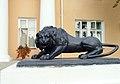 Правый лев у входа в здание министерства культуры Карелии (ансамбль зданий Круглой площади).JPG