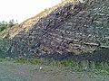Разрез пластов горной породы - panoramio.jpg