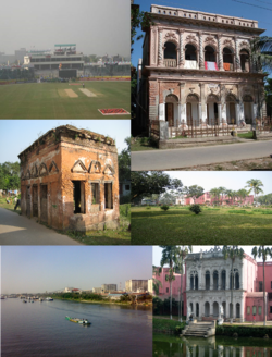 Narayanganj city beside the Shitalakkha river