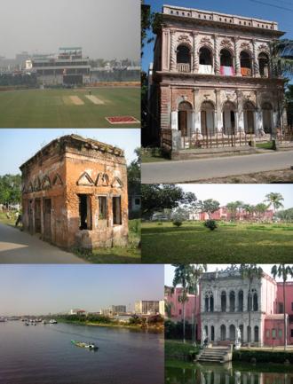Narayanganj - Narayanganj city beside the Shitalakkha river