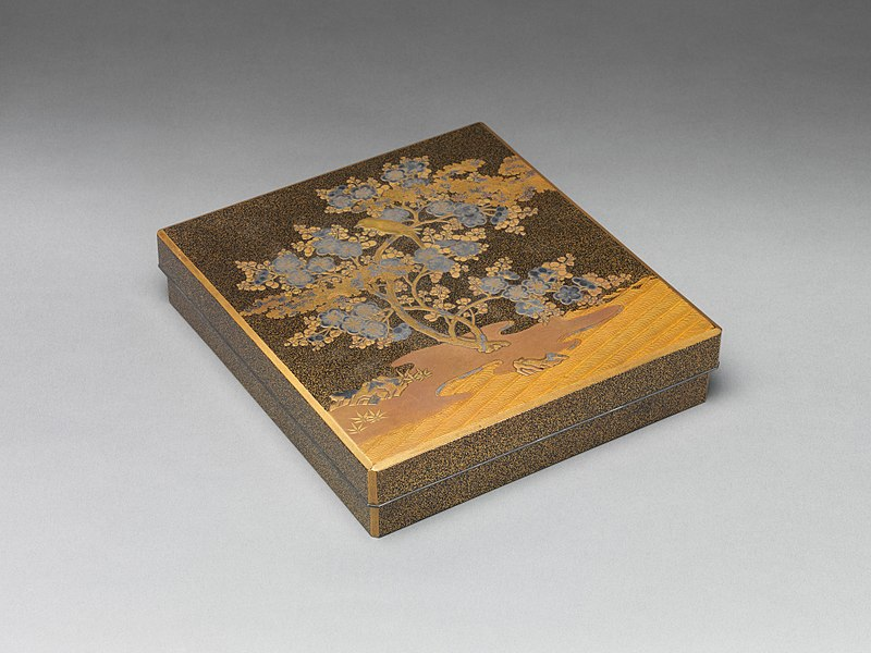 File:梅鶯蒔絵硯箱-Writing Box with Warbler in Plum Tree MET DP302428.jpg