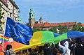 02019 0530 (2) Equality March 2019 in Kraków, Rainbow Wawel.jpg