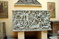 0453 - Roma, Museo d. civiltà romana - Sarcofago Mattei Foto Giovanni Dall'Orto, 12-Apr-2008.jpg