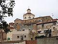 096 Sant Miquel, façana sud (Mont-roig del Camp), des del pati de l'antic Ajuntament.jpg