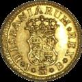 1-2 Escudo (Oro) de Fernando VI con 'ceca' de Madrid 1750 Reverso.png