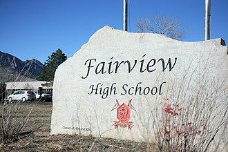 Fairview High School (Boulder, Colorado) - Image: 1 IMG 1225