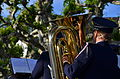 100 Jahre Dampfschiff Stadt Rapperwil - Hafenfest Rapperswil - 'Rosenempfang' durch die Feldmusik Jona 2014-05-23 19-08-36.JPG