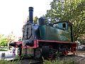 111 Màquina de tren a la cruïlla de la Rambla i el c. Galileu (Terrassa).jpg