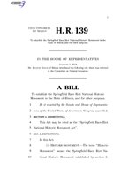 116th United States Congress H. R. 0000139 (1st session) - Springfield Race Riot National Historic Monument Act.pdf