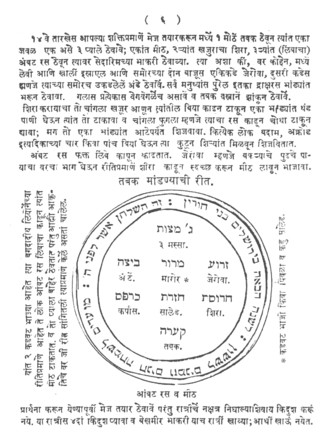 Judeo-Marathi - A page from a Haggada shel Pesah in Judaeo-Marathi which was printed in Mumbai in 1890.