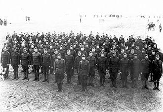 120th Fighter Squadron - Men of the 120th Aero Squadron, 2d Air Instructional Center (2d AIC), Tours Aerodrome, France, November 1918.