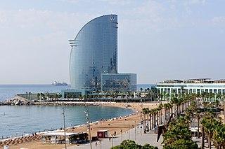 W Barcelona hotel in Spain