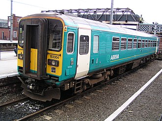 Arriva Trains Northern - Arriva Trains Northern liveried 153304 at Doncaster station in July 2003