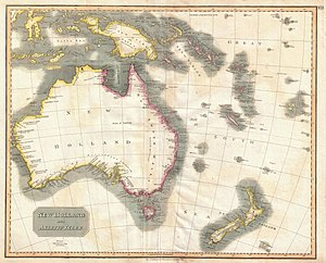 John Thomson (cartographer) - Image: 1814 Thomson Map of Australia, New Zealand and New Guinea Geographicus Australia thomson 1814