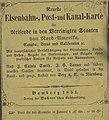 1851, Neueste Eisenbahn- Kanal- u. Post-Karte für Reisende in den Vereinigten Staaten Von Nord-Amerika, Canada, Texas u. Californien 02 (cropped).jpg