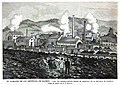 1880-11-15, La Ilustración Española y Americana, El almacén de luz artificial de Madrid, Vista del establecimiento minero de Barruelo, en la provincia de Palencia.jpg