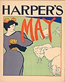 1895 Edward Penfield advertising poster Harper's New Monthly Magazine, May.jpg