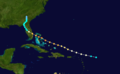 1933 Atlantic hurricane 12 track.png