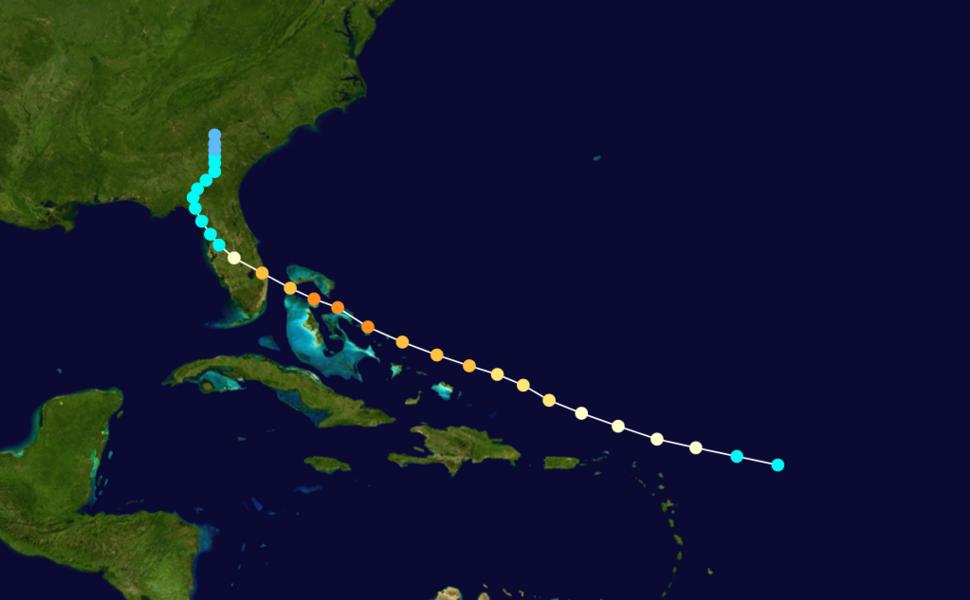 1933 Atlantic hurricane 12 track
