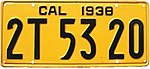 1938 California license plate 2T 53 20.jpg
