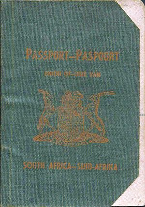 South African passport - Image: 1951 South African passport